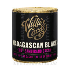 Large view Willie`s Cacao 100% - MADAGASCAN BLACK - SAMBIRANO - 180g block for grating